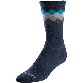 PEARL iZUMi Calcetines Lana Merino Térmicos, navy/teal solitaire